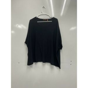 525 America Black Poncho Top Shirt M/L